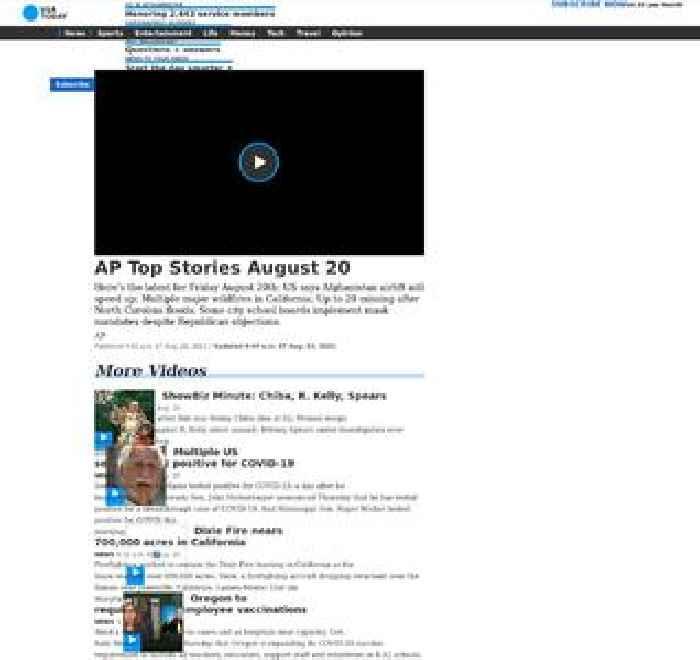 AP Top Stories August 20 A