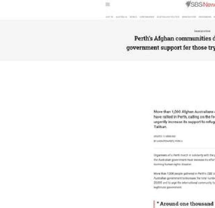 Perth's Afghan communities demand more federal government support for those trying to flee Afghanistan
