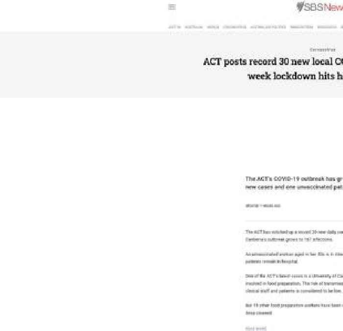 ACT posts record 30 new local COVID-19 cases as three-week lockdown hits halfway point