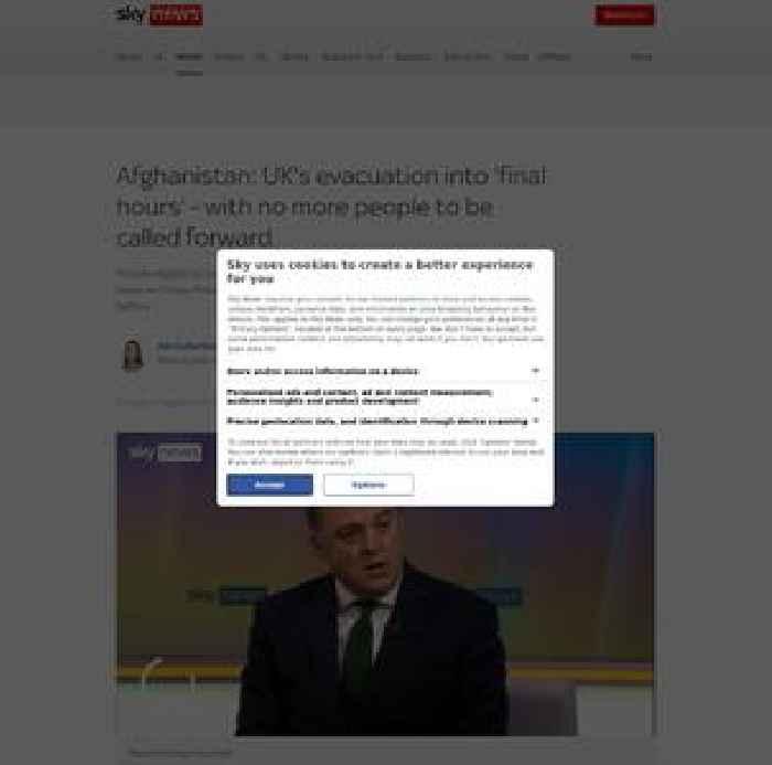 UK's Afghanistan evacuation has 'matter of hours left' - defence secretary