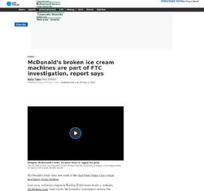McDonald's broken ice cream machines are part of FTC investigation, report says