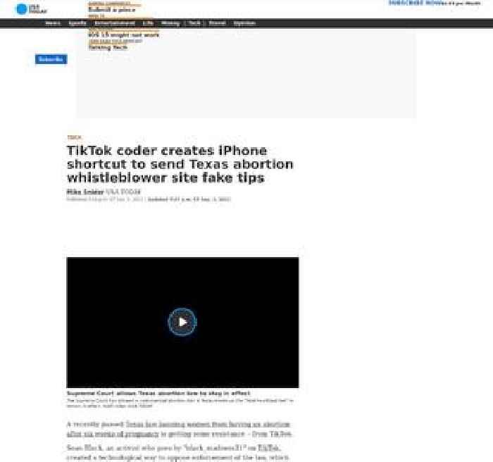 TikTok coder creates iPhone shortcut to send Texas abortion whistleblower site fake tips