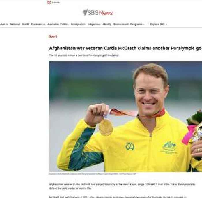 Afghanistan war veteran Curtis McGrath claims another Paralympic gold for Australia