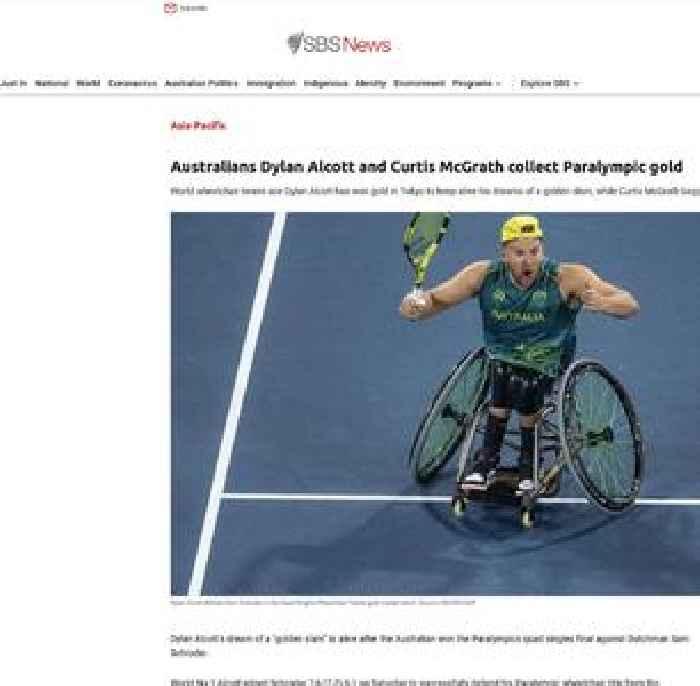 Australian Dylan Alcott defends Paralympic tennis title
