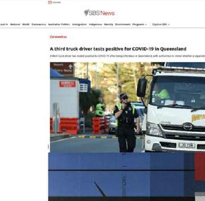 A third truck driver tests positive for COVID-19 in Queensland