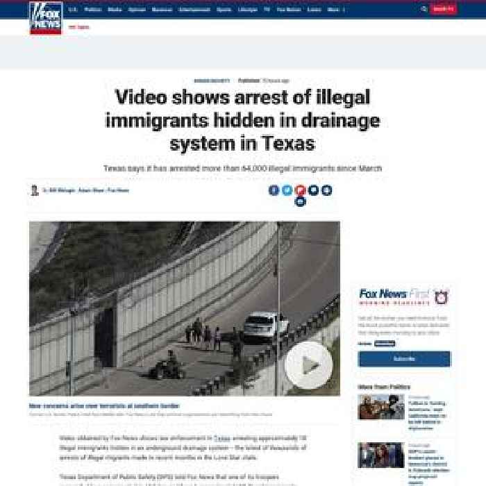 Video shows arrest of illegal immigrants hidden in drainage system in Texas