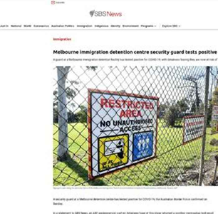 Positive COVID-19 result for security guard at Melbourne immigration detention centre sparks concern