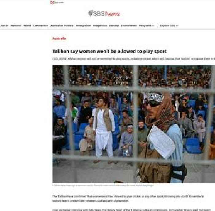 Taliban say women won't be allowed to play sport