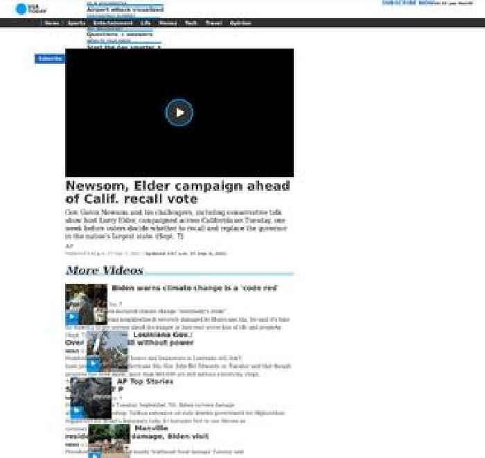Newsom, Elder campaign ahead of Calif. recall vote