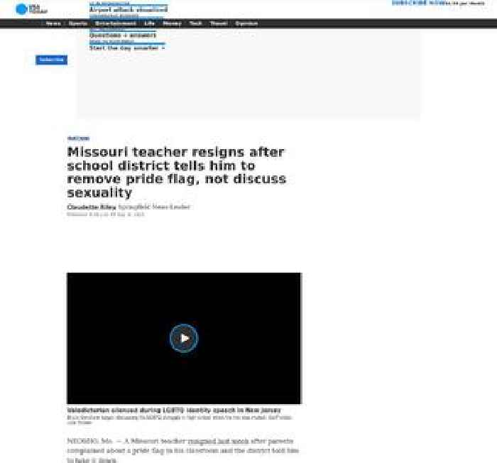Missouri teacher resigns after school district tells him to remove pride flag, not discuss sexuality