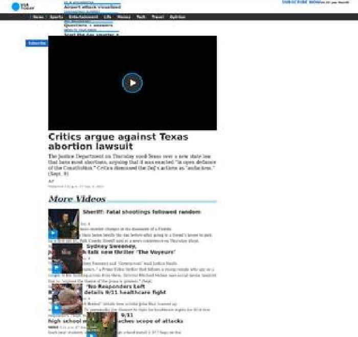 Critics argue against Texas abortion lawsuit