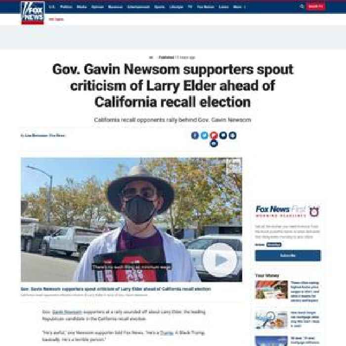 Gov. Gavin Newsom supporters spout criticism of Larry Elder ahead of California recall election