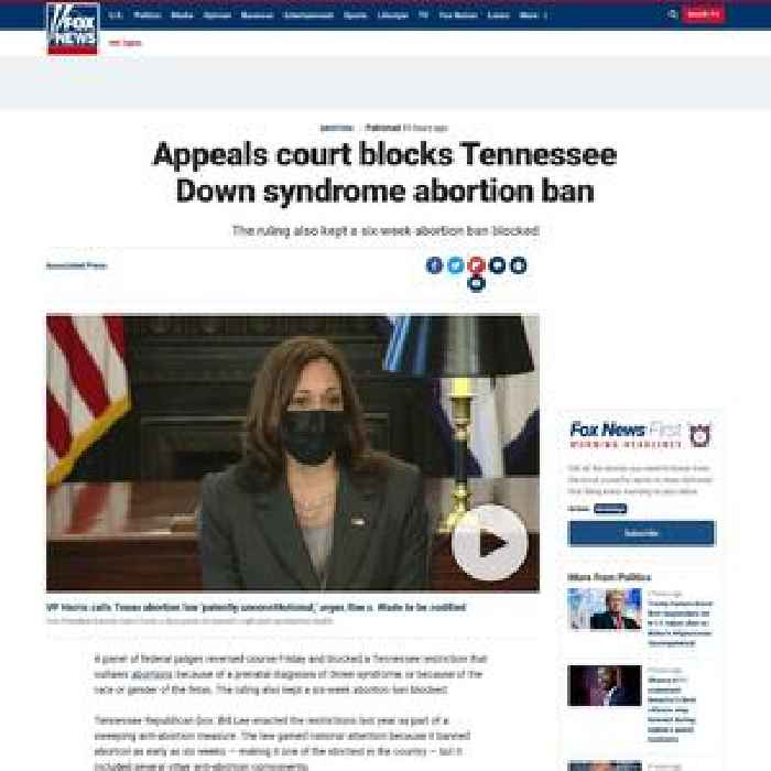 Appeals court blocks Tennessee Down syndrome abortion ban
