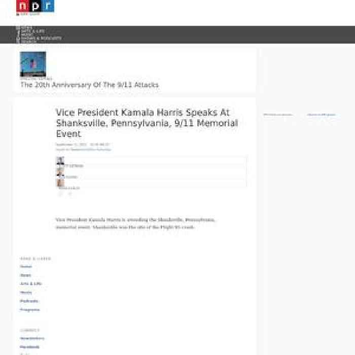 Vice President Kamala Harris Speaks At Shanksville, Pennsylvania, 9/11 Memorial Event