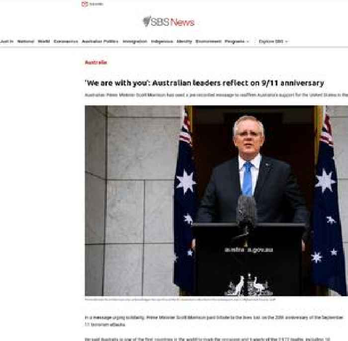 'We are with you': Australian leaders reflect on 9/11 anniversary