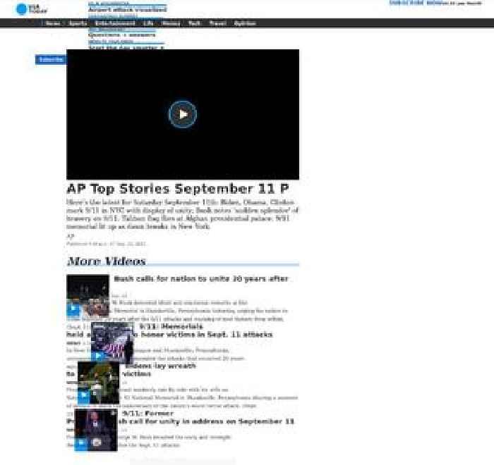 AP Top Stories September 11 P