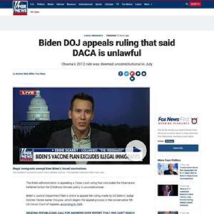 Biden DOJ appeals ruling that said DACA is unlawful