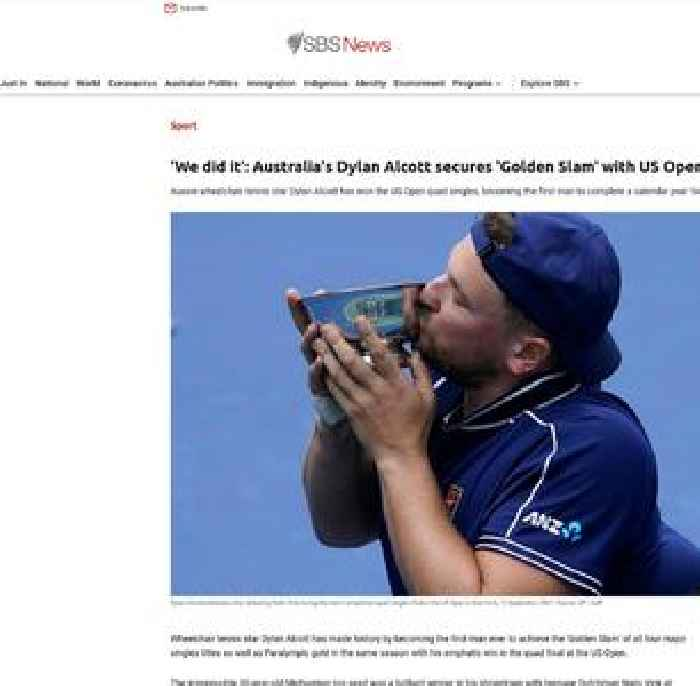 Australia's Dylan Alcott secures men's 'Golden Slam' with US Open victory