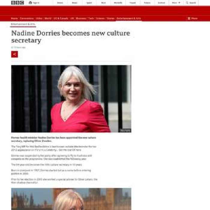 Nadine Dorries becomes new culture secretary