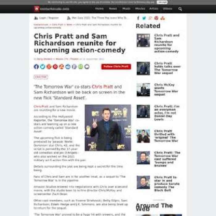 Chris Pratt and Sam Richardson reunite for upcoming action-comedy