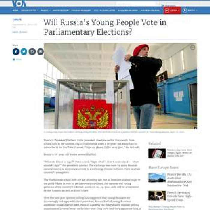 Will Russia's Young People Vote in Parliamentary Election?