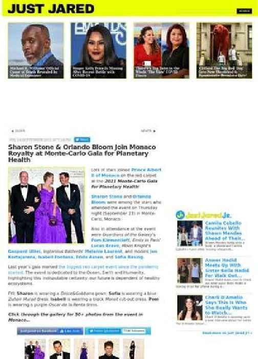 Sharon Stone & Orlando Bloom Join Monaco Royalty at Monte-Carlo Gala for Planetary Health