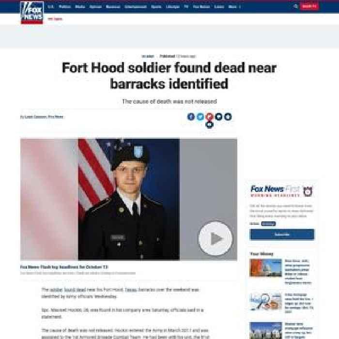 Fort Hood soldier found dead near barracks identified
