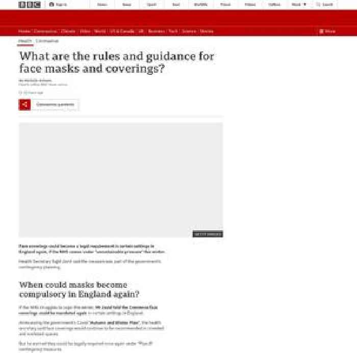 What are the rules and guidance for face masks and coverings?