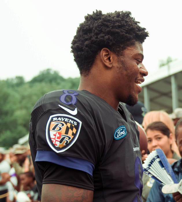 Ravens quarterback Jackson sets NFL rushing record - then signs shirts for opposition players