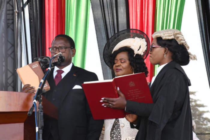 Lazarus Chakwera: Malawi's president who 'argued with God'.