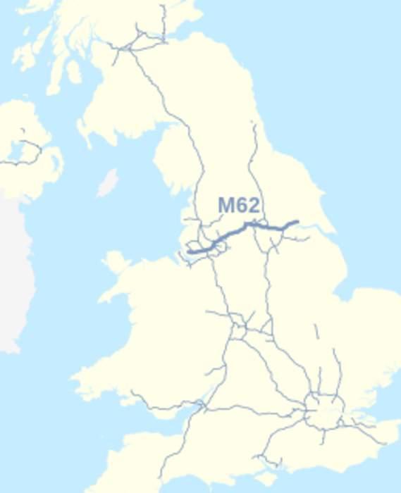 M62 crash: 'Several injured' in multiple-vehicle crash
