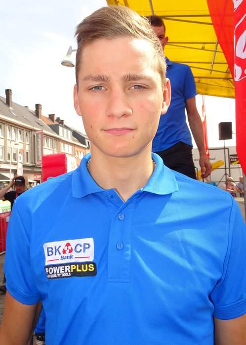 Van der Poel wins stage two of Tour de France
