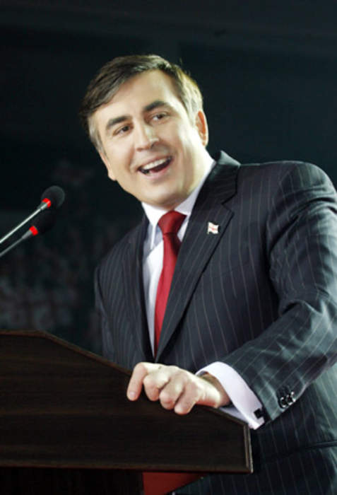 News24.com | Tens of thousands rally in Georgia for jailed ex-leader Saakashvili