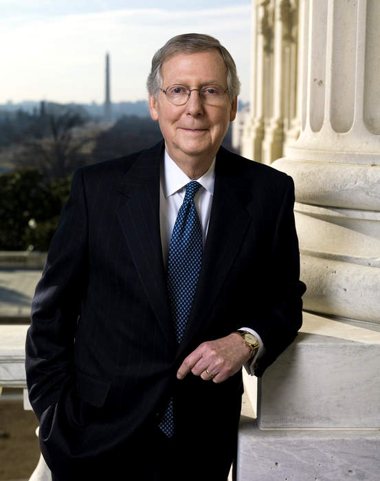 Mitch McConnell's Kentucky Home Vandalized Over Stimulus Bill