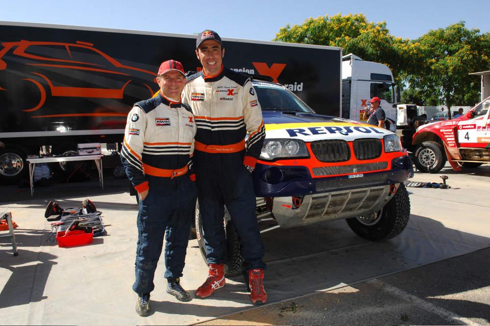 Dakar rally car tested on tank training ground in Dorset