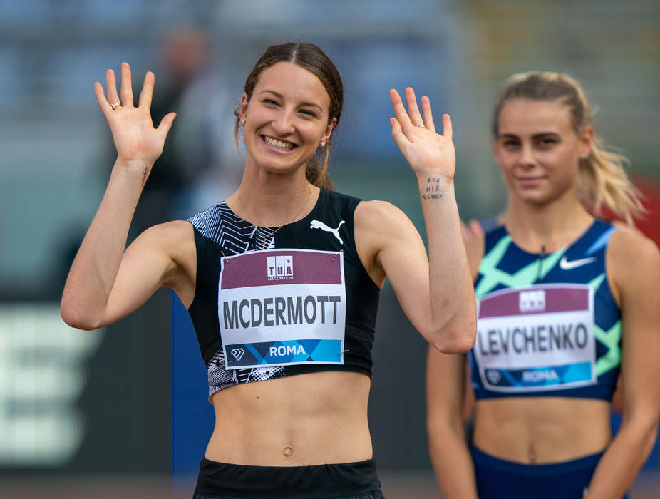 Leaping into history: Nicola McDermott wins high jump silver