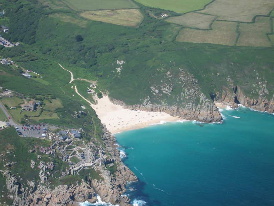 Swimmer dies at Porthcurno beach