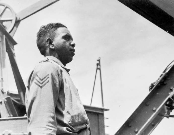 Reg Saunders was the first Aboriginal officer in the army. His legacy still matters today