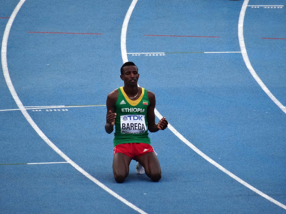 Ethiopia's Barega wins the first track gold of Olympics in 10,000m