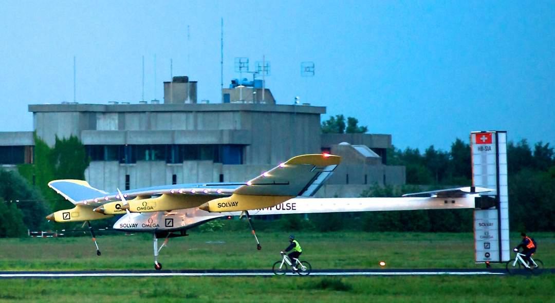 Solar powered plane jet starts latest leg of global flight try