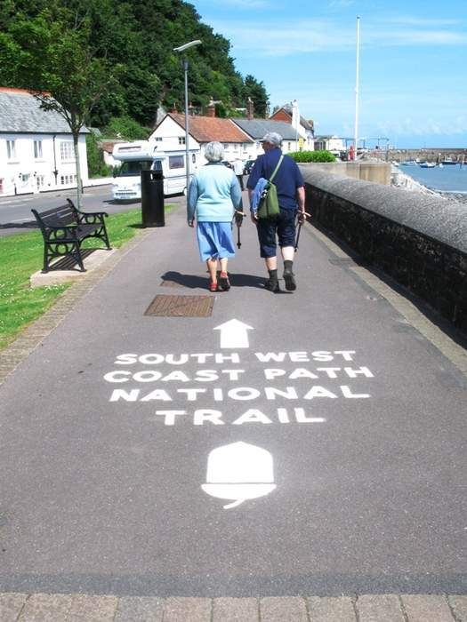South West Coast Path closed as giant crack appears