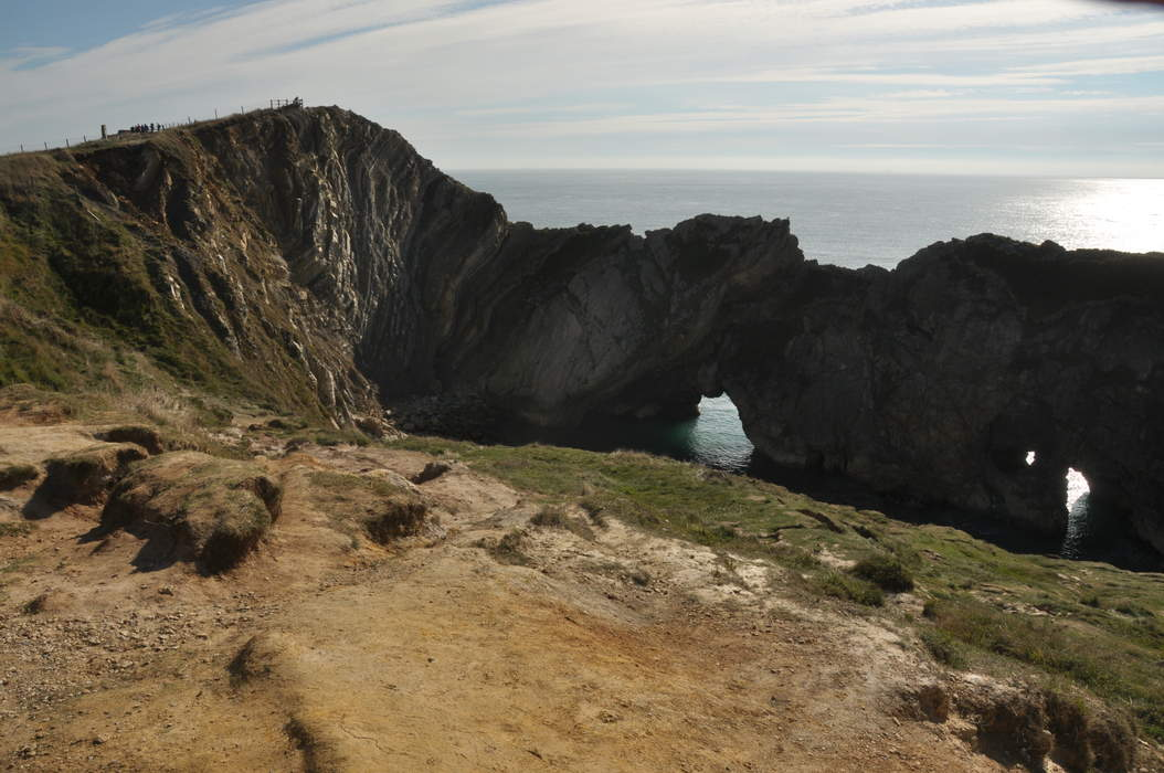Stair Hole rescue: Man hanging off cliff saved by helicopter