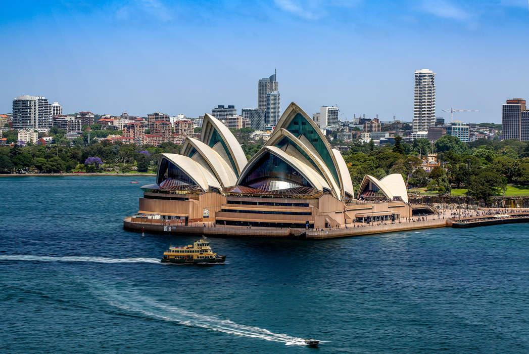 Sydney Opera House lights up with Lebanese cedar in solidarity with Beirut