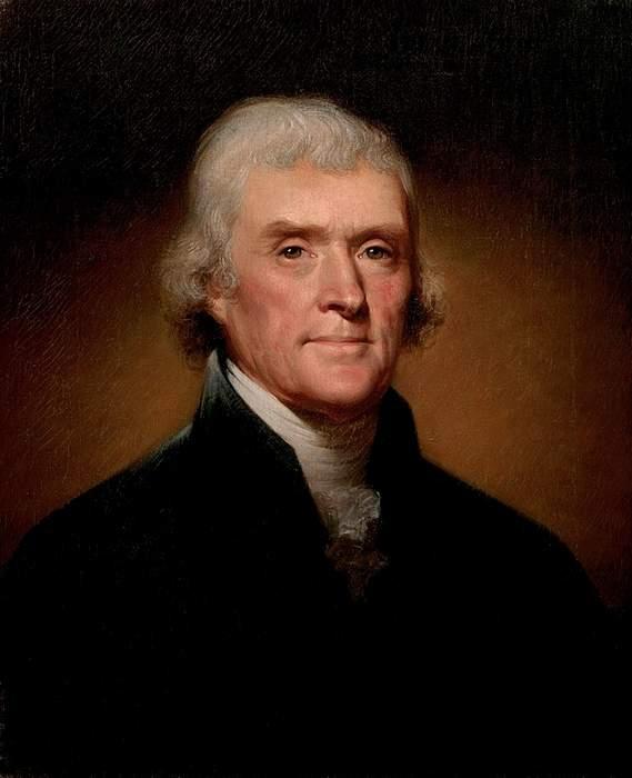 Jefferson's original Declaration of Independence displayed