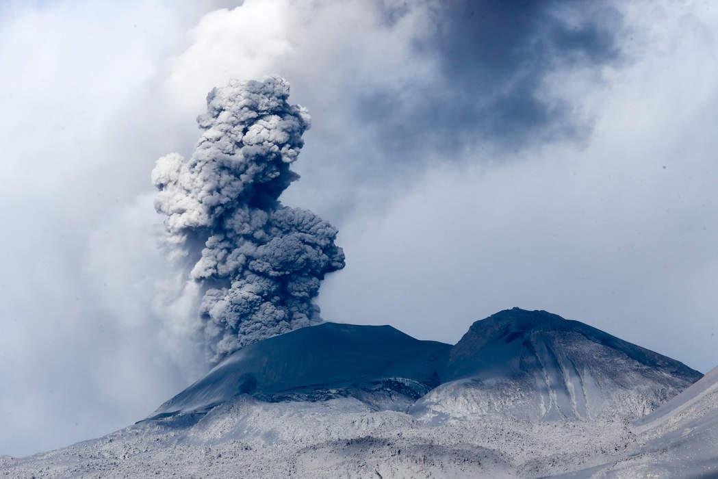 JUST IN: Volcano erupts on Spanish island of La Palma