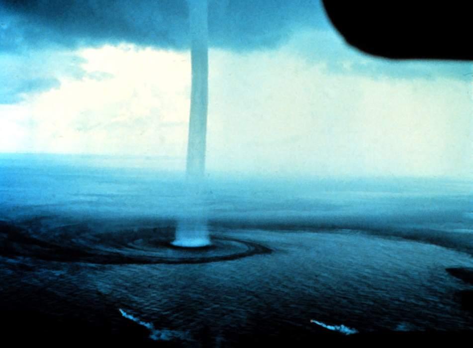 Waterspout swirls near Daytona Beach amid weather warning