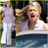 Kate Upton Lets Out a Fit of Anger During 'The Layover' Filming