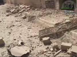 Palmyra's damaged buildings following Syria air strikes in video