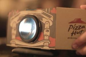 Pizza Hut designed an experimental pizza box that transforms into a projector