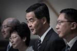 Hong Kong leader clashes with democrats ahead of key vote